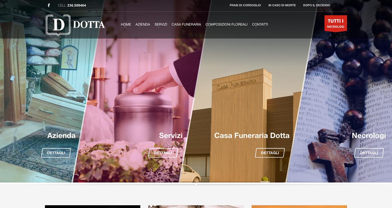Sito Web Onoranze Funebri Dotta - Jacopo Zane Web Designer - Treviso