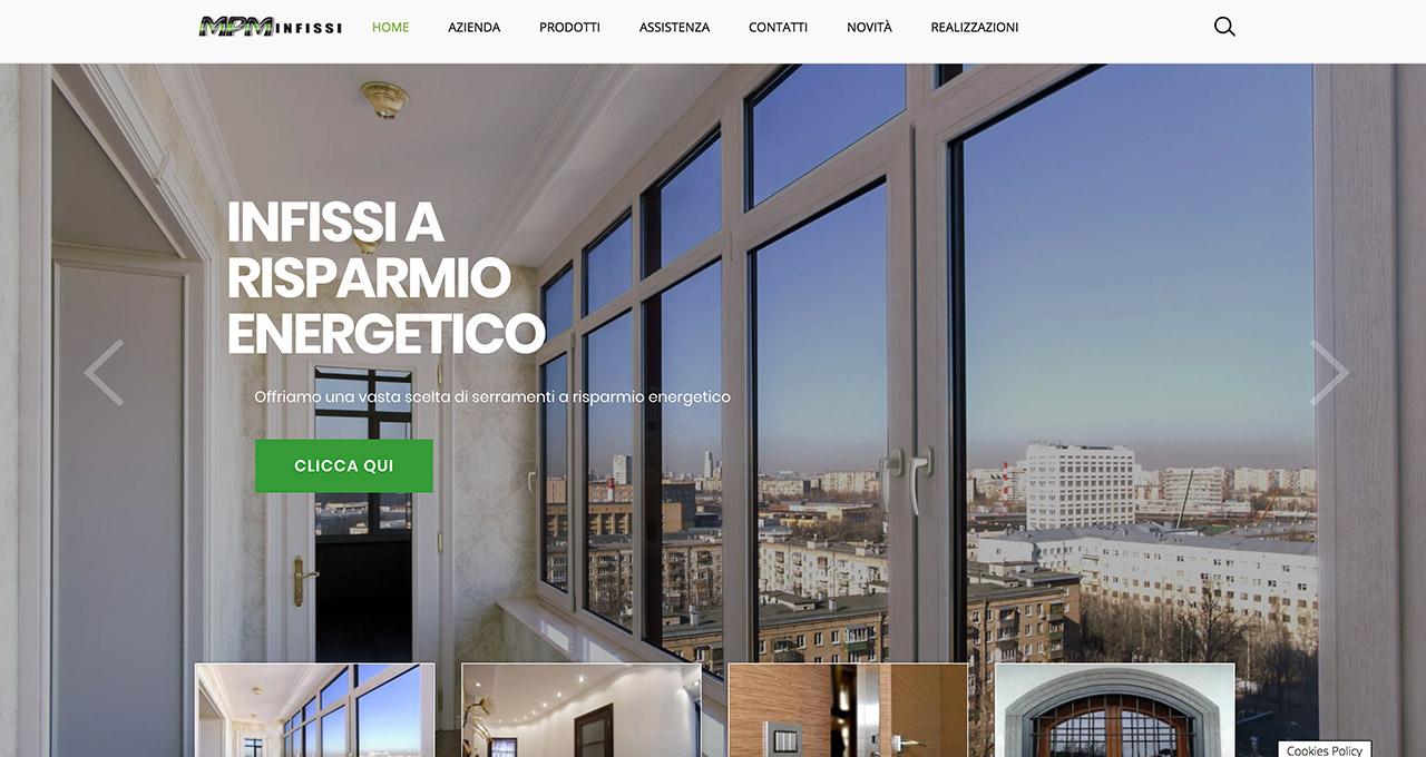Sito Web Infissi Certificati - Jacopo Zane Web Designer - Portfolio