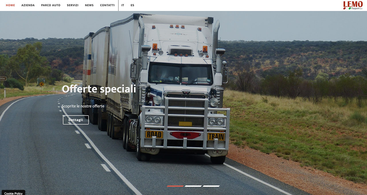 Sito Web Lemo Trasporti - Jacopo Zane Web Designer - Treviso