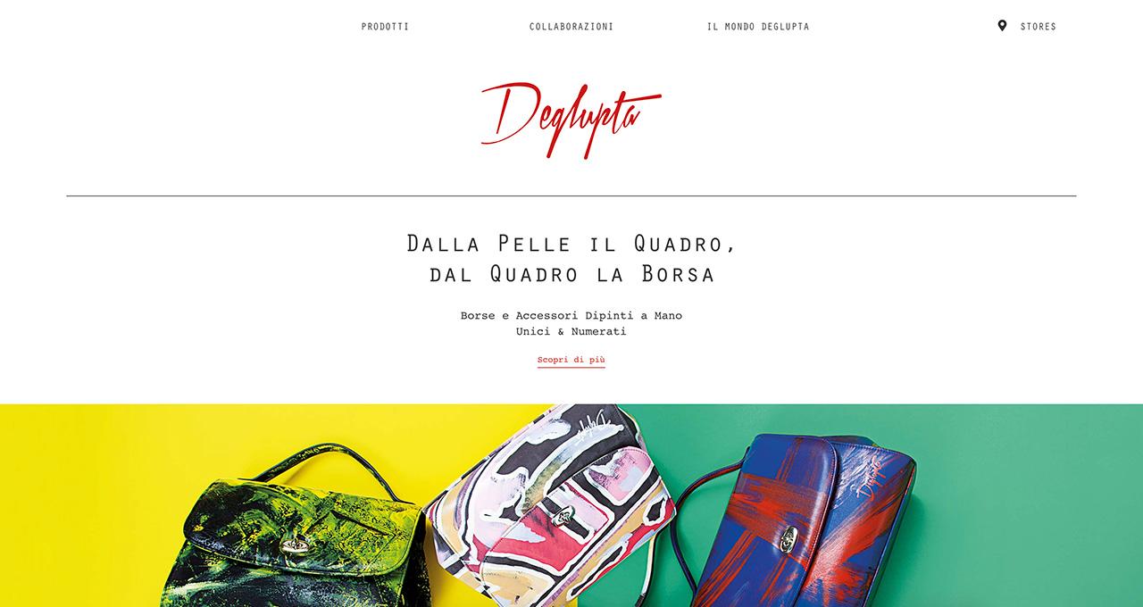 Sito Web Deglupta - Jacopo Zane Web Designer - Portfolio