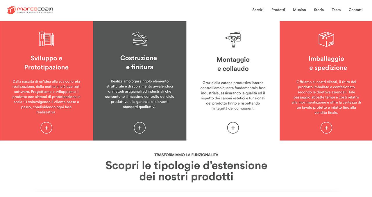 Sito Web Marco Coan - Jacopo Zane Web Designer - Treviso