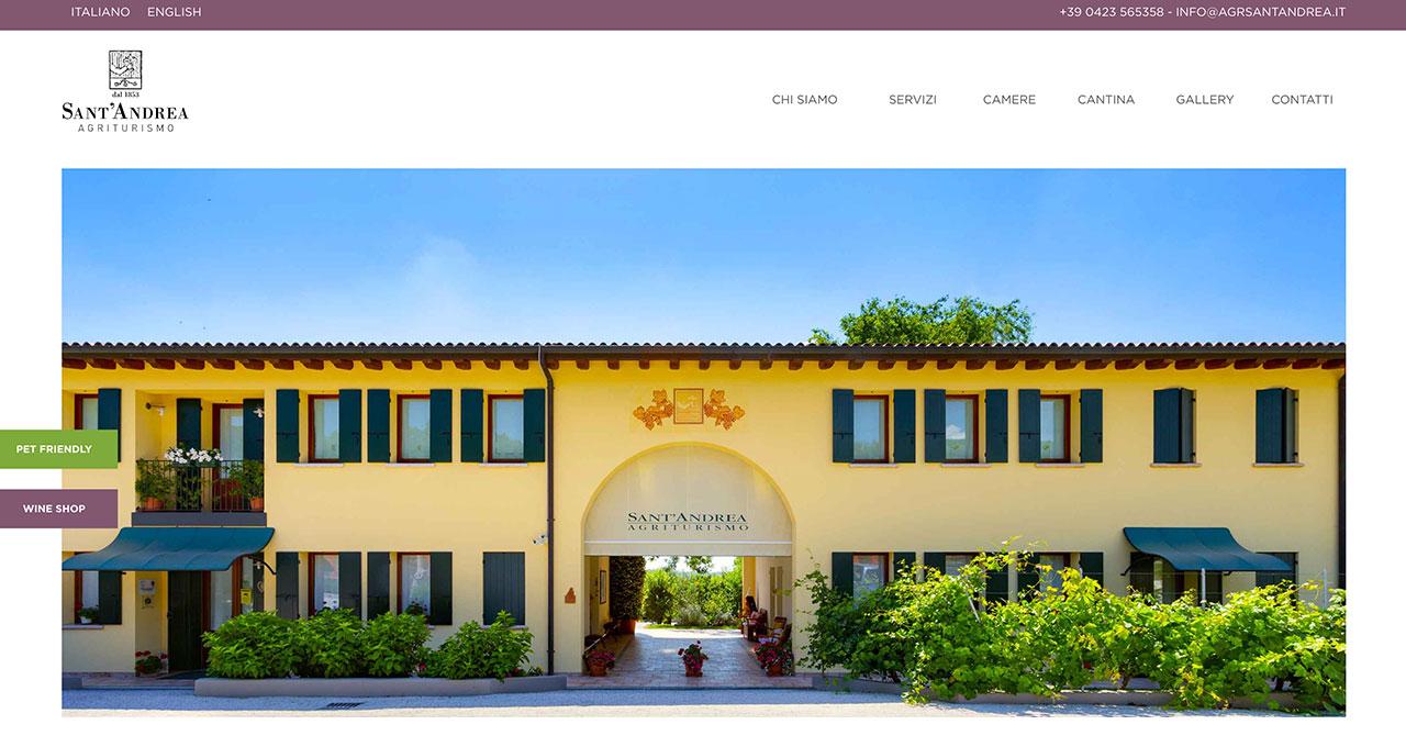 Sito Web Agriturismo Sant'Andrea - Jacopo Zane Web Designer - Treviso