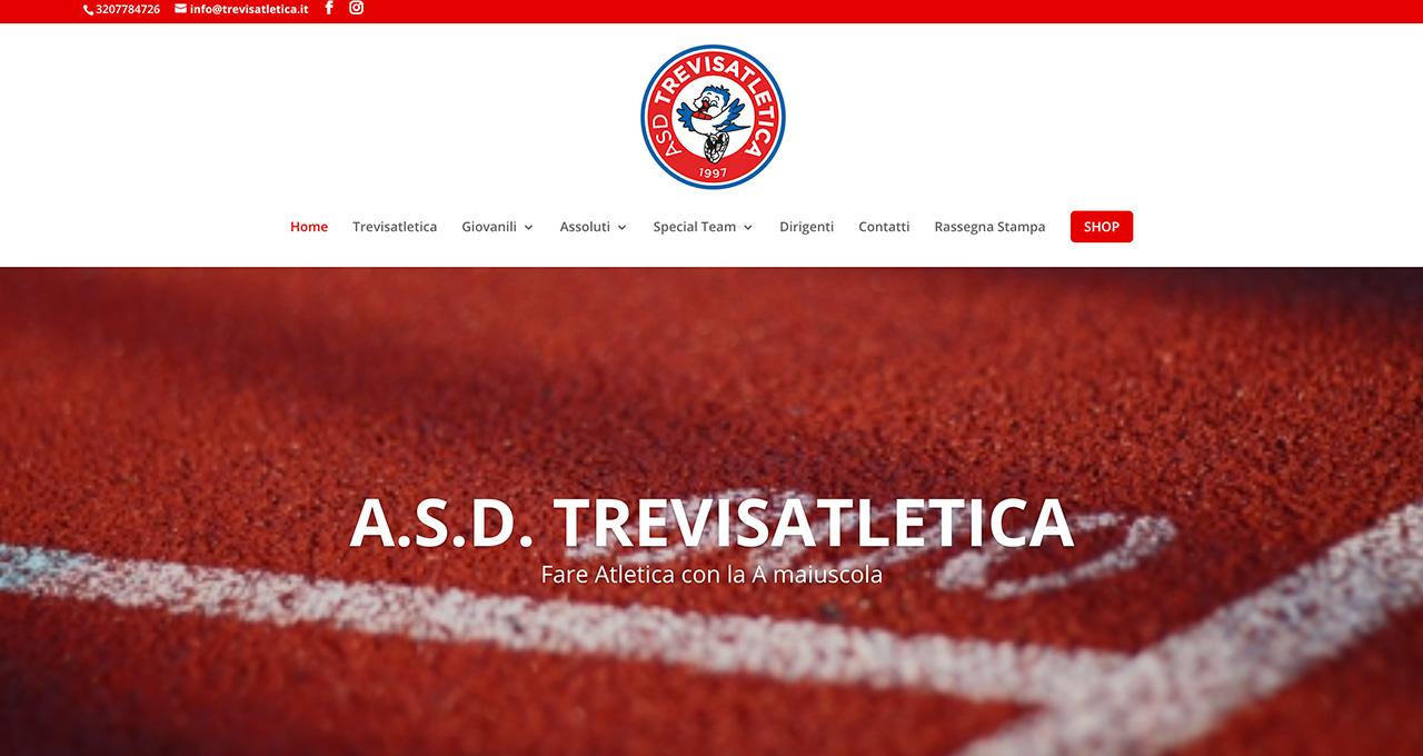 Sito Web Trevisatletica - Jacopo Zane Web Designer - Treviso - Portfolio