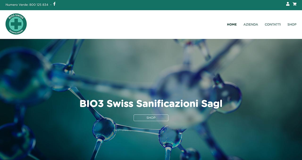 Sito Web Bio3 Shop Sanificatori - Jacopo Zane Web Designer - Treviso