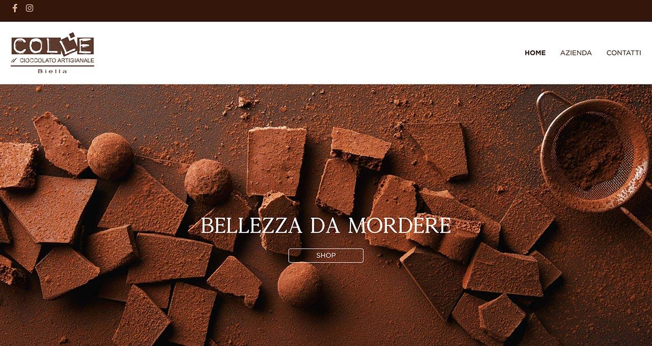Sito Web Cioccolato Colle - Jacopo Zane Web Designer - Treviso