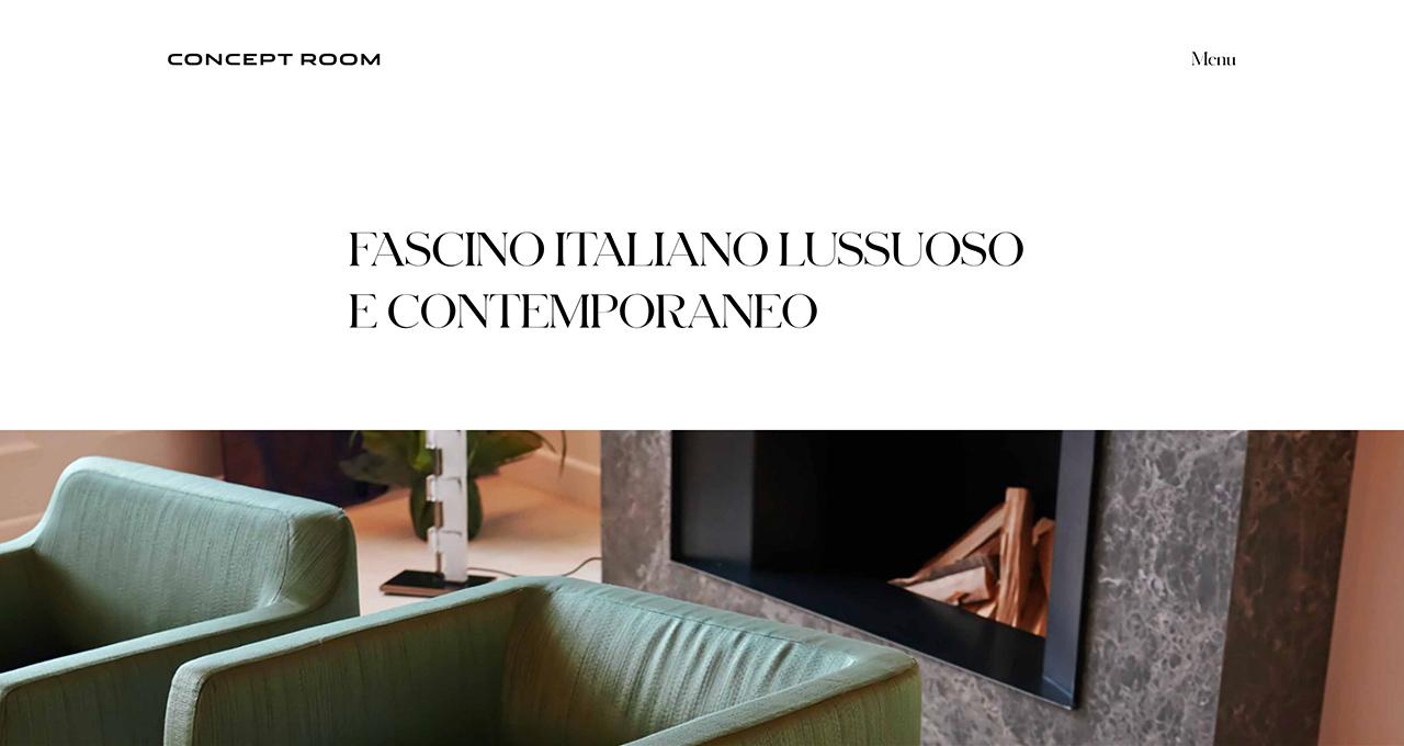 Sito Web CONCEPT ROOM - Jacopo Zane Web Designer - Treviso