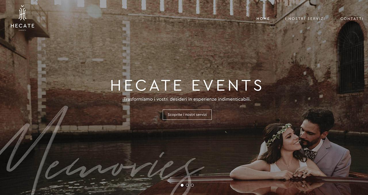Sito Web HECATE EVENTS - Jacopo Zane Web Designer - Treviso
