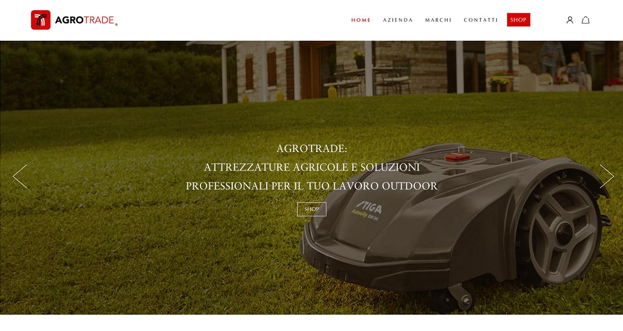 Sito Web AGROTRADE - Jacopo Zane Web Designer - Treviso
