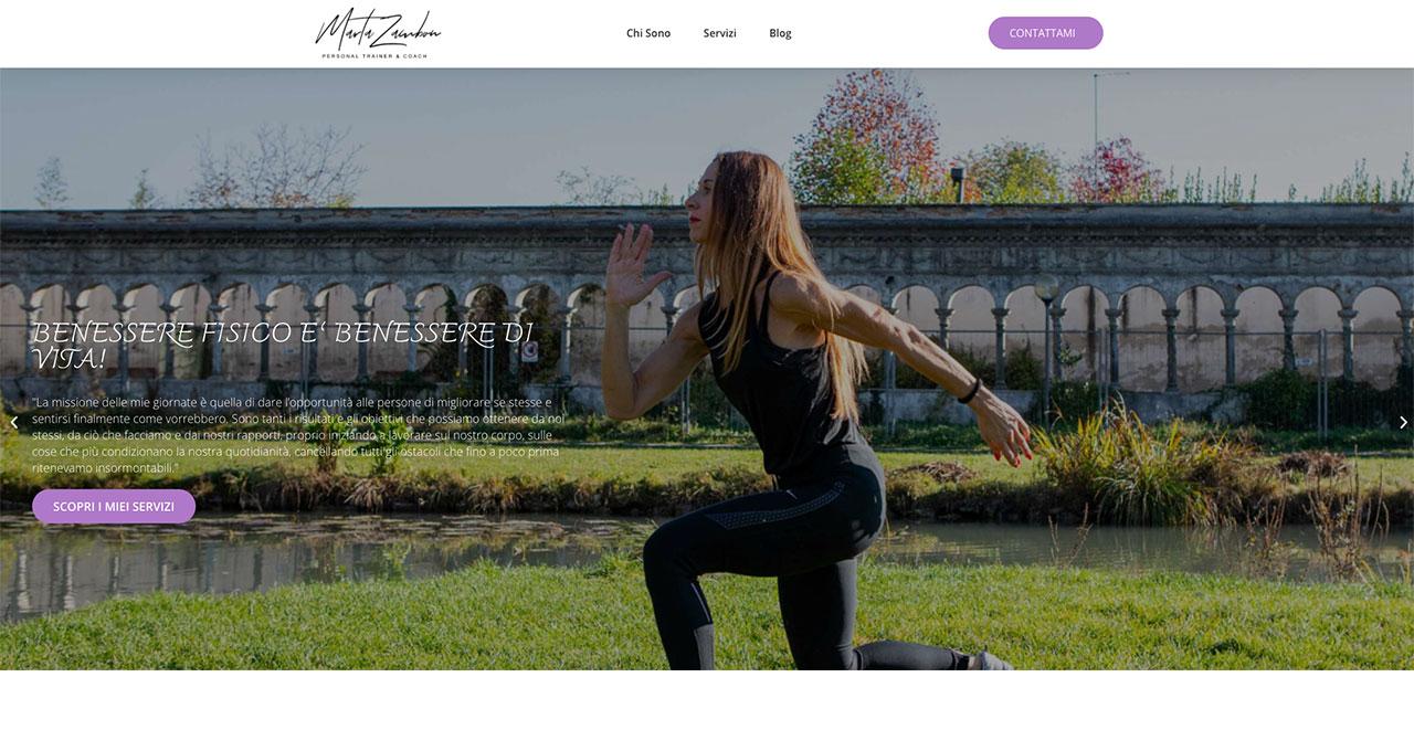 Sito Web MARTA ZAMBON - Jacopo Zane Web Designer - Treviso